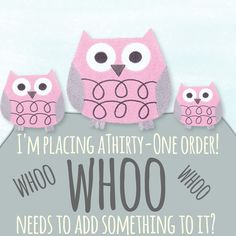 I\'m placing a Thirty-One order! \