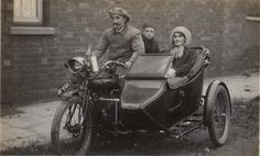 Vintage Motorcycle & Sidecar