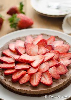 Paleo Double Chocolate Strawberry Cake