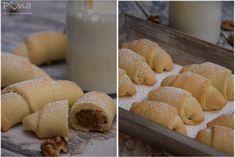 vůně kávy a pastelek: Ořechové rohlíčky ze zakysané smetany No Bake Pies, Bread, Baking, Food, Brot, Bakken, Essen, Meals, Breads