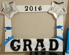 Graduation photo booth frame made by Sara's Kooky Creations