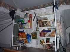 camping organization ideas | camping organization ideas; Woh Nellie! love it! kitchen shelves and ...