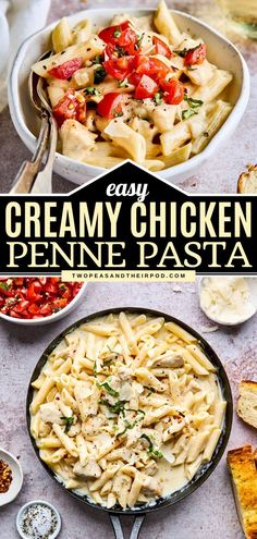 Another weeknight favorite! While this easy Chicken Penne Pasta is delicious with a creamy, cheesy sauce, a bruschetta topping takes it to a whole new level. Your family will always request this… Creamy Pasta Recipes, Best Pasta Recipes, Fun Easy Recipes, Cheap Recipes, Yummy Recipes, Chicken Penne Pasta, Chicken Pasta Recipes, Tortellini, Bruschetta Toppings