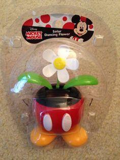 Disney's Mickey Mouse Solar Dancing White Flower for Dashboard, Window, etc!! #Disney