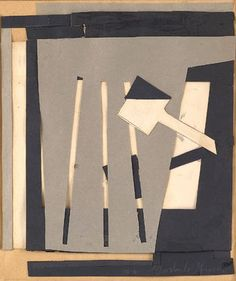 Gertrude Greene Untitled(1939-6), 1939 (Mixed media with collage, 8 x 6 3/4 inches) Spanierman Gallery, NYC
