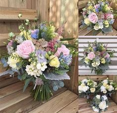 Avalanche+ roses in a design by Hollyhocks florist