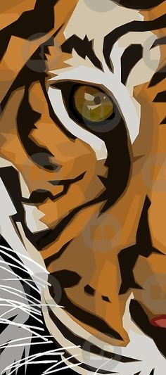 Eye Of The Tiger art painting Tiger Drawing, Tiger Painting, Tiger Art, Mask Drawing, Animal Paintings, Animal Drawings, Art Drawings, Desenho New School, Tiger Poster