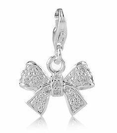 Pave Bow with Cubic Zirconia | Sterling Silver | Thomas Sabo Charm Club