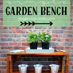 Simple Garden Bench {tutorial}