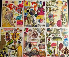 Collage - set N par teeshamoore sur Etsy https://www.etsy.com/be-fr/listing/258779615/collage-set-n
