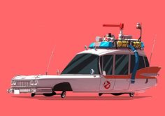 """""""Greatest Rides"""" is a new ongoing series by Ido Yehimovitz (previously), featuring famous vehicles from his favorite movies and TV shows. More illustrations via NiceFuckingGraphics Mekka, Ghost Busters, Prop Design, Car Illustration, Visual Development, Cultura Pop, Hero Arts, Pop Culture, Concept Art"""