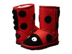 Emu Australia: Little Creatures Ladybird Sparkle (Red) Your little ladybug can wear these snuggly ladybug themed sheepskin boots well beyond Halloween!