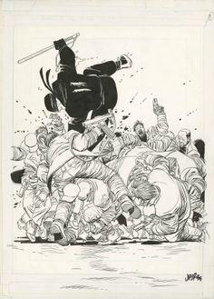 DAREDEVIL THE MAN WITHOUT FEAR #5 PAGE 2 SPLASH - John Romita Jr. & Al Williamson