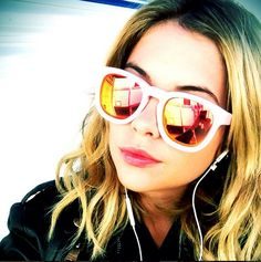 b6db4f2bb86 The lovely Ashley Benson in our  WildfoxSun Classic Fox Mirror Frames!  http