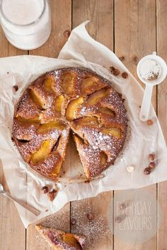 Honey, Nectarine and Nut Cake
