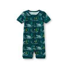Save Sea Turtles Pajamas | Did you know that green sea turtles (an endangered species) can hold their breath for many hours? The colder the water, the longer they can hold their breath!