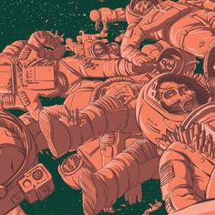 Dead Astronauts Project by Jared Nickerson, via Behance