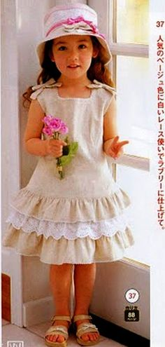 Discussion on LiveInternet - Russian Service Online Diaries Little Girl Outfits, Little Girl Fashion, Little Girl Dresses, Kids Fashion, Baby Girl Dresses, Baby Dress, Cute Dresses, Dress Girl, Toddler Dress