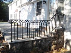Decorative Wrought Iron Railing Wrought Iron Porch Railings, Garden Railings, Front Porch Railings, Patio Railing, Balcony Railing Design, Wrought Iron Decor, Wrought Iron Fences, Staircase Railings, Banisters