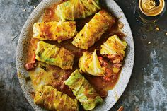 Corned Beef Cabbage Rolls With Cider Dijon Sauce   Canadian Living