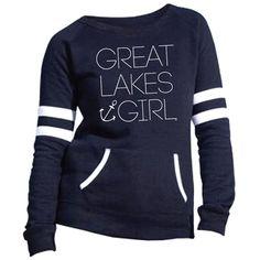 Great Lakes Girl Varsity Fleece Crew Sweatshirt
