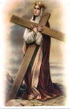 40 Saints for Lent Day Saint Helen of the Cross Patron Saint of… Catholic Art, Catholic Saints, Patron Saints, Religious Images, Religious Art, Sainte Therese De Lisieux, Santa Helena, Saint Helena Island, Cross Pictures