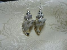 Sterling Silver Conch Shell Earrings by TheSaltyShell on Etsy, $18.00