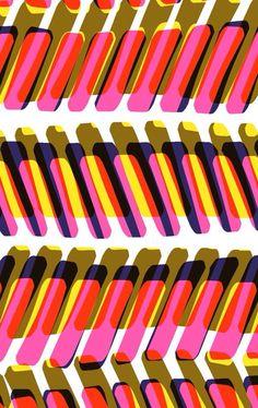 layered : abstract : geometric : stripes : Pinky Ponk - Sarah Bagshaw