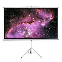"""Gotobuy 100"""" Projector 16:9 Projection Screen Tripod Pull-up White"""