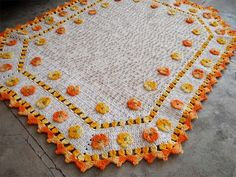 tapete-flores-alaranjadas-1