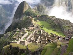 Machu Picchu a 15th-century Inca site located 7,970 ft above sea level located in the Cusco Region of Peru, South America