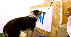 A Dog That Knows His Name So Well He Can Paint It!  http://blog.theanimalrescuesite.com/jumpy-paints-name/