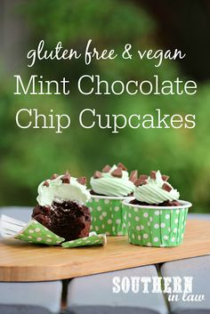 Inspired by ice cream, these Vegan Mint Chocolate Chip Frosted Cupcakes are so easy to make but seriously delicious. Low fat, egg free, dairy free, soy free, vegan, gluten free, lower sugar and so simple! Who would have thought a homemade cake from scratch would be so easy?!