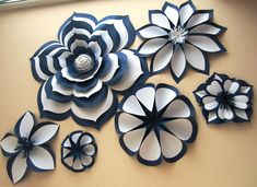 Chanel Inspired Large Paper Flowers Paper Flower Set Two image 4 Paper Flowers Craft, Large Paper Flowers, Paper Flowers Wedding, Crepe Paper Flowers, Paper Flower Backdrop, Paper Flower Wall, Paper Roses, Flower Crafts, Paper Crafts