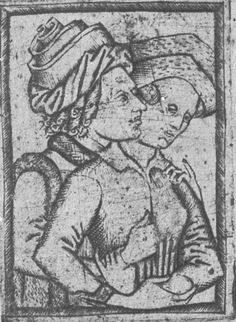 Master E.S. Lovers (Half Figures). c. 1470. Staatliche Kunstsammlungen Dresden. Dresden, Germany. Bildindex der Kunst und Architektur.