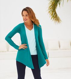 Wear over a fitted vest - will enhance your waist!