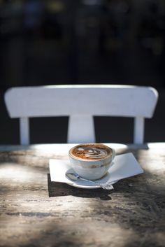coffee in the sun   photo milk, chia & honey
