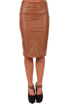 Lime Lush Boutique - Camel Faux Leather Pencil Skirt with Pocket Detail, $39.99 (http://www.limelush.com/camel-faux-leather-pencil-skirt-with-pocket-detail/)