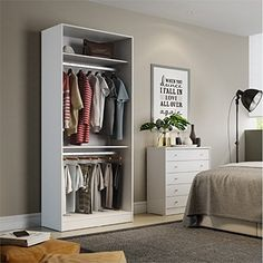 Nice 90.55 in. Armoires and Wardrobes in White