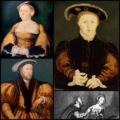 A collage of King Edward VI and his parents, Henry VIII and Jane Seymour.