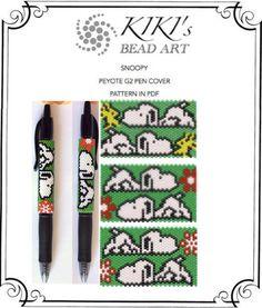 Peyote pen cover patterns Snoopy peyote patterns set of 3