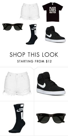 Untitled #33 by myajane04 on Polyvore featuring Topshop, NIKE, Ray-Ban and BlackLivesMatter