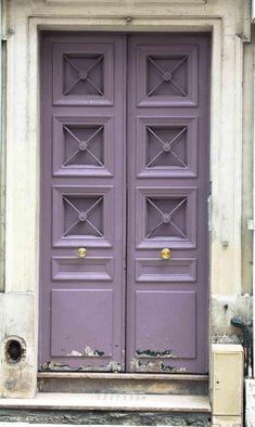 Paris Photography Paris Lavender Purple by rebeccaplotnick Purple Front Doors, Purple Door, Front Door Colors, Front Door Decor, Purple Wall Art, Purple Walls, Paris Decor, Paris Photography, Exterior Paint