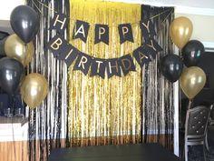 40th Birthday Party Themes, Happy Birthday Decor, Beer Birthday Party, Party Kulissen, Birthday Party Decorations For Adults, Birthday Backdrop, 25th Birthday, 30th, Birthday Ideas