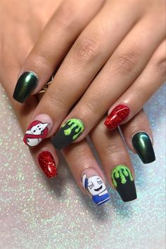 Ghostbusters  by jdeviva from Nail Art Gallery
