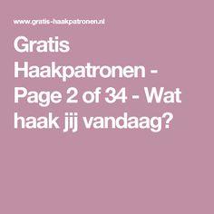 Gratis Haakpatronen - Page 2 of 34 - Wat haak jij vandaag?