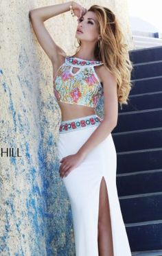 Halter Embellished Gown by Sherri Hill 11168