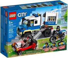 Lego City Police Sets, Fun Police, Lego City Sets, Construction Lego, Van Lego, Shop Lego, Free Lego, Truck Coloring Pages, Transporter