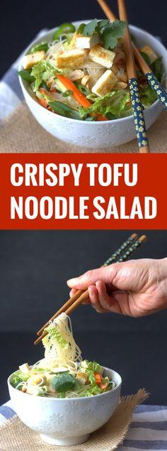 Crispy Tofu Noodle Salad