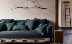 by genna margolis ( Mark Alexander, Willow Leaf, Nature Color Palette, Ideal Home, Loom, Love Seat, Weave, Colours, Throw Pillows